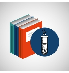 library books school science chemistry vector image vector image
