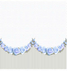 seamless garlands of roses on a vintage striped vector image vector image