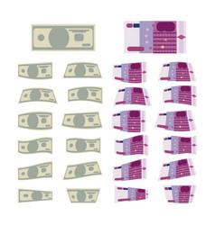 set of money vector image
