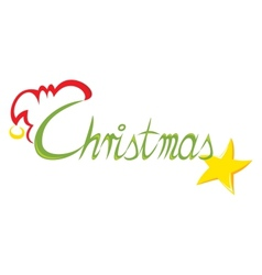 Text Christmas vector image vector image