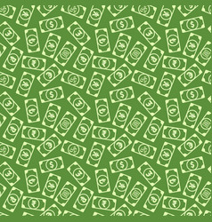 a lot different bright money banknotes with vector image