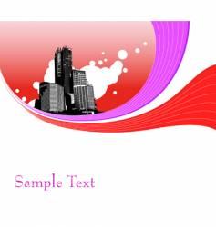 Abstract cityscape vector