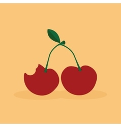 Abstract delicious cherry vector image
