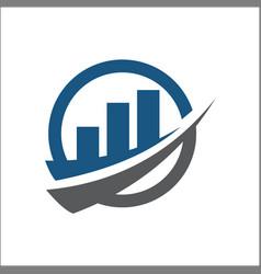 accounting financial logo graphic abstract vector image