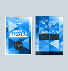 Annual report cover design template flyer design vector