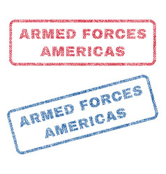 Armed forces americas textile stamps vector
