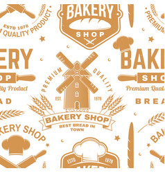 Bakery shop seamless pattern or background vector