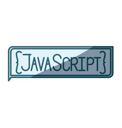 Blue shading silhouette of rectangle text java vector
