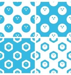 Bowling patterns set vector