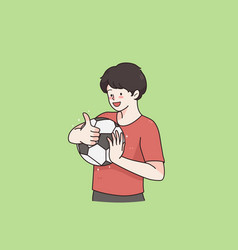 boy football player concept vector image