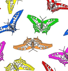 Butterflies seamless wallpaper vector image