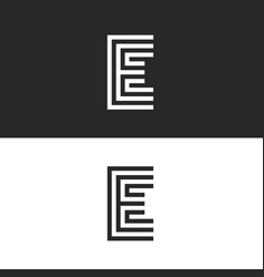 capital letter e logo monogram identity mark vector image