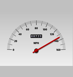 car speedometer with speed level scale or vector image