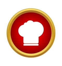 Chef hat icon in simple style vector image