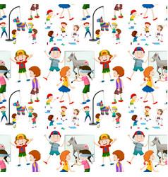 Children activity seamless pattern vector