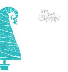 Christmas greeting card in simple and clean vector