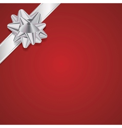 Christmas Present with Ribbon and Bow Background vector