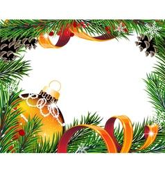 Christmas wreath with orange ball vector