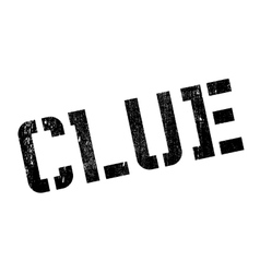 Clue rubber stamp vector image