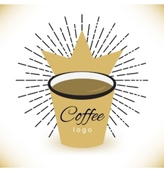 coffee logo template with stylized cup vector image