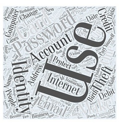 Computer identity theft Word Cloud Concept vector