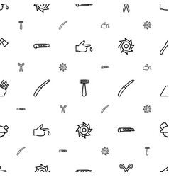 Cut icons pattern seamless white background vector