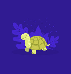 cute turtle cheerful tortoise reptile animal vector image
