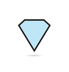Diamond blue crystal vector
