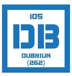 Dubnium chemical element vector