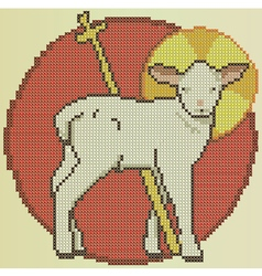 Easter holy sheep vector image