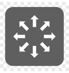Expand Arrows Rounded Square Button vector