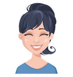 facial expression of a woman - laughing vector image