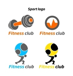 Fitness sport club logo vector