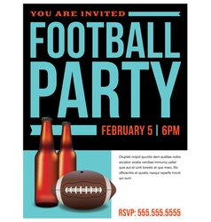 Football Party Flyer Template vector image vector image