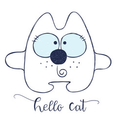 friendly cartoon cat vector image