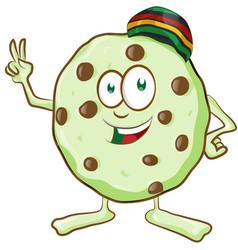 fun character cookie with marijuana flavor vector image