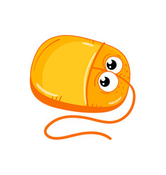 funny computer mouse cartoon character vector image