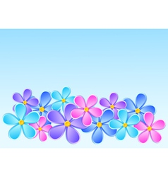 Greeting card with paper flower vector
