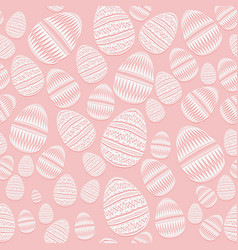 happy easter seamless pattern of easter eggs in vector image