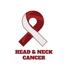 head and neck cancer awareness papercut ribbon vector image