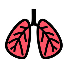 icon human lung isolated on white background vector image