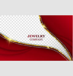 Jewelry company realistic banner template vector