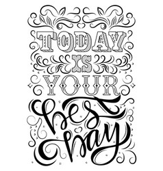 lettering phrase message vector image