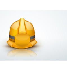 Light background gold fireman helmet vector