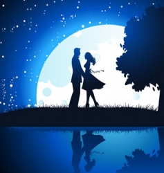 lovers vector image