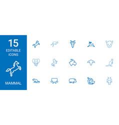 mammal icons vector image