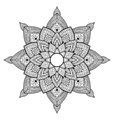 mandala for coloring background flower shape vector image