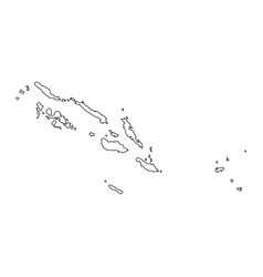 Map solomon islands vector