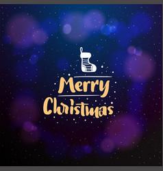 merry christmas typographic emblem logo vector image