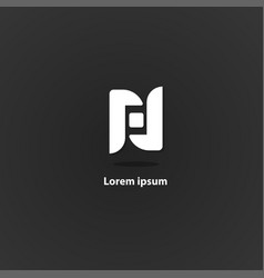 n logo vector image